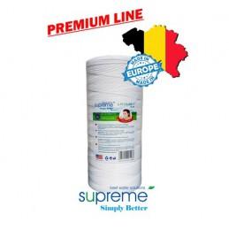 """S-PSBB10 - PREMIUM LINE - Wkłady mechaniczne ze sznurka polipropylenowego 10"""" Big Blue - SUPREME (typu FCPP10BB)"""
