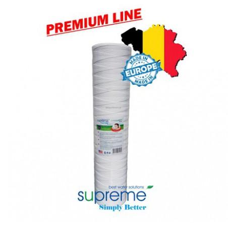 """S-PSBB20 - PREMIUM LINE - Wkłady mechaniczne ze sznurka polipropylenowego 20"""" Big Blue - SUPREME (typu FCPP20BB)"""
