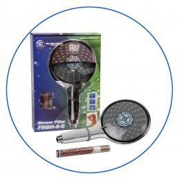 FHSH-6-C - Chromowany filtr prysznicowy - słuchawka 21,5 cm- Aquafilter