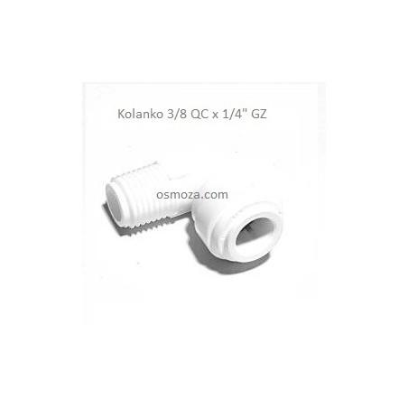 """Kolanko 1/4"""" GZ x 3/8"""" wężyk - Organic LTD. WA-ME0604"""