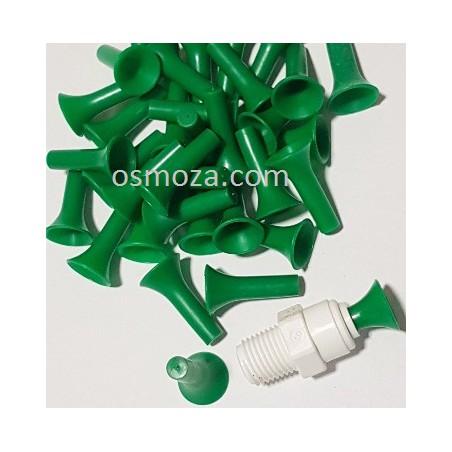 """Zaślepka 1/4"""" do szybkozłączki - Zatyczka AQ-PL2-G (zielona) Aquafilter"""