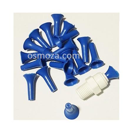 """Zaślepka 1/4"""" do szybkozłączki - Zatyczka AQ-PL2-B (niebieska) Aquafilter"""