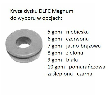 Kryza dysku DLFC Magnum  5-10 gpm i zaślepiona