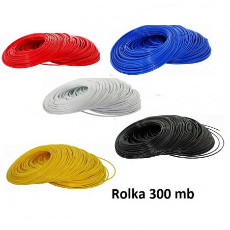 """Wężyk 1/4""""  szpula 300 mb - kolory"""