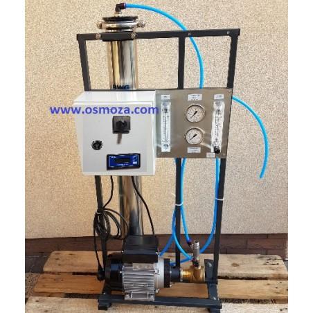 Mobilny Przemysłowy System RO - Odwrócona Osmoza 300 l./h RO300-CCT z konduktometrem