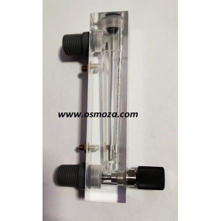 Rotametr panelowy z zaworem 5GPM GZ1/2-1/4GW (skala 0,5-5GPM, 2-18LPM)