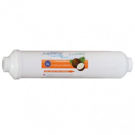 """S-L-CARB - Wkład węglowy kokosowy liniowy 2"""" do RO - GW 1/4""""- SUPREME"""