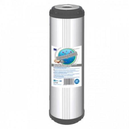 """FCCB 10""""  wkład węglowy ze złożem bitumicznym i antracytowym - Aquafilter"""