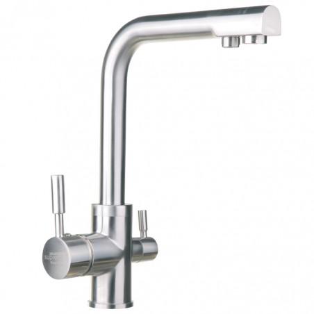 FX03-M - Nowoczesna, stylowa trójdrożna bateria kuchenna do wody zimnej, ciepłej oraz filtrowanej - SUPREME