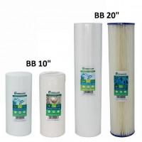 wkłady filtrujące typu BigBlue: sznurkowe, sedymentacyjne, piankowe